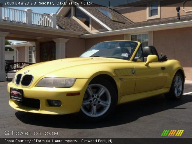 Dakar Yellow 2000 Bmw Z3 2 3 Roadster Black Interior