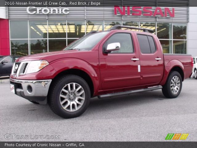 red brick 2010 nissan frontier le crew cab beige interior vehicle archive. Black Bedroom Furniture Sets. Home Design Ideas