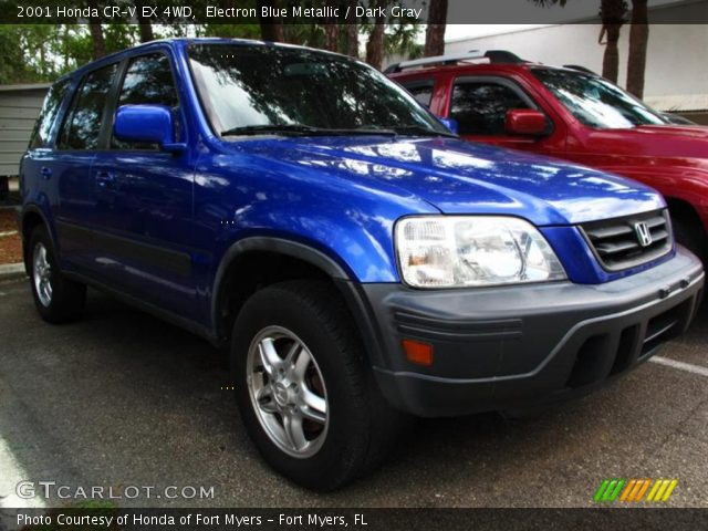 2001 Honda CR-V EX 4WD in Electron Blue Metallic. Click to see large ...