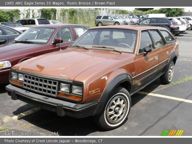 Rustic Bronze Amc Eagle Series Wagon Brown Plaid Interior