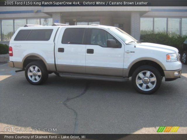 oxford white 2005 ford f150 king ranch supercrew 4x4 castano brown leather interior. Black Bedroom Furniture Sets. Home Design Ideas