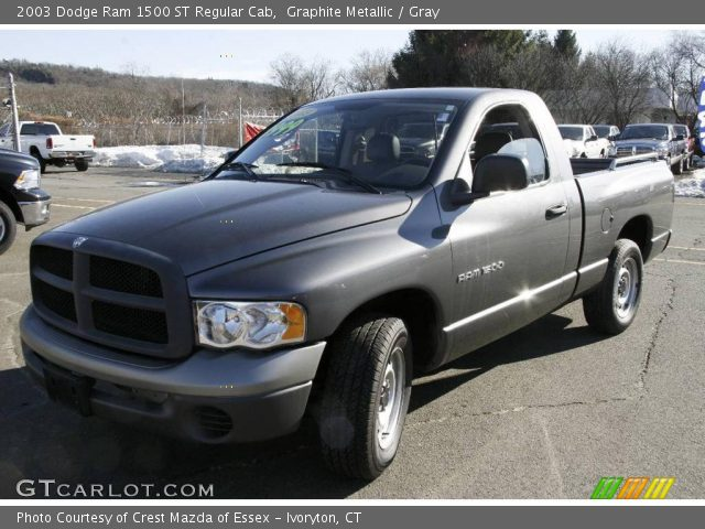 graphite metallic 2003 dodge ram 1500 st regular cab gray interior vehicle. Black Bedroom Furniture Sets. Home Design Ideas