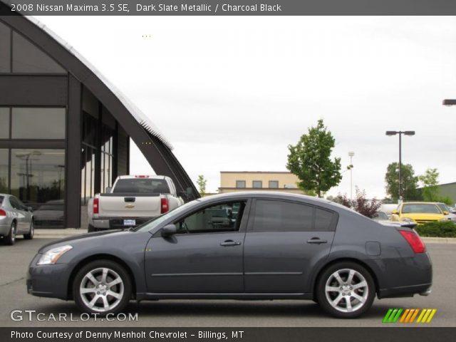 Dark Slate Metallic 2008 Nissan Maxima 35 Se Charcoal Black