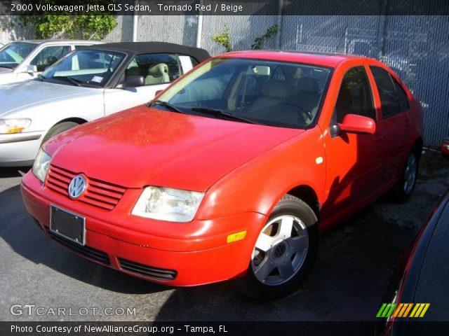 Volkswagen Jetta 2000 Interior. Tornado Red 2000 Volkswagen