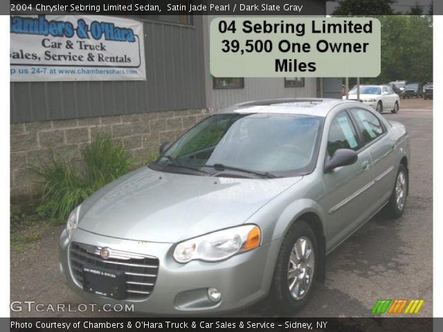 2004 Chrysler Sebring Limited Sedan in Satin Jade Pearl. Click to see ...