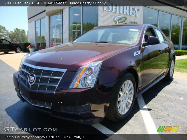 black cherry 2010 cadillac cts 4 3 0 awd sedan ebony. Black Bedroom Furniture Sets. Home Design Ideas