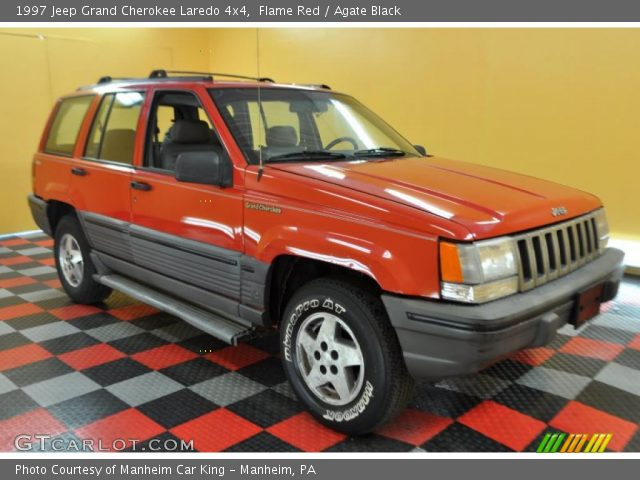 Flame red 1997 jeep grand cherokee laredo 4x4 agate - 1997 jeep grand cherokee interior ...