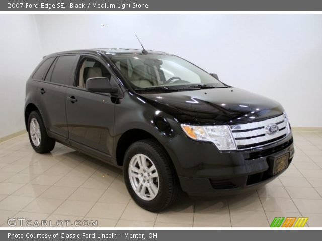 Black 2007 Ford Edge Se Medium Light Stone Interior Vehicle Archive 32535306