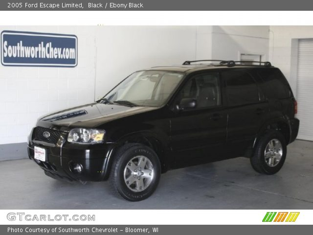 Black 2005 Ford Escape Limited with Ebony Black interior 2005 Ford Escape Limited in Black