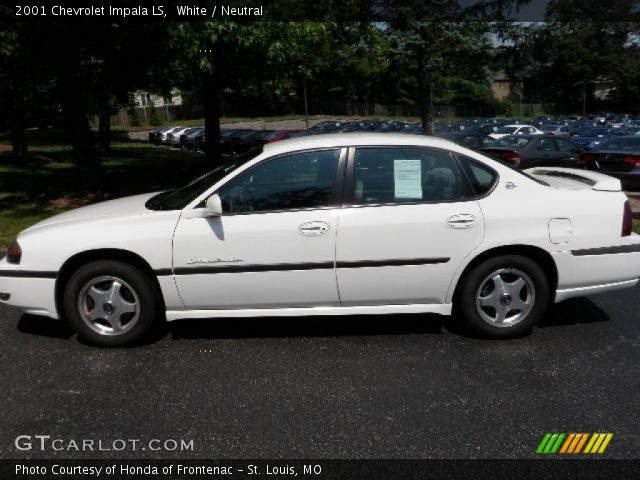 white 2001 chevrolet impala ls neutral interior. Black Bedroom Furniture Sets. Home Design Ideas