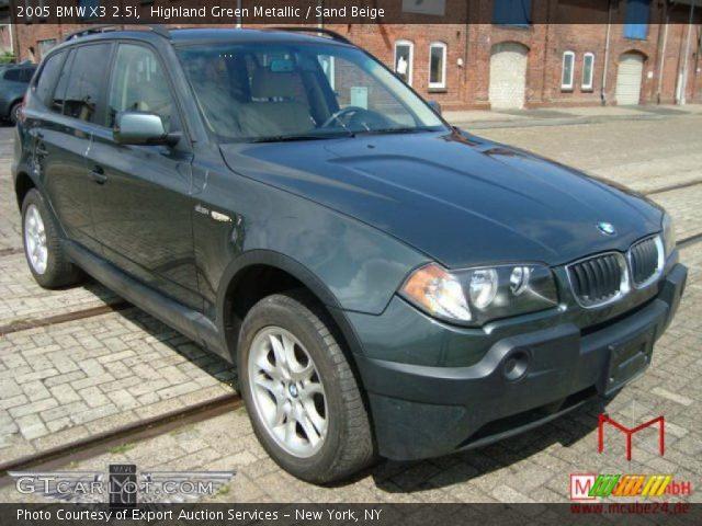 highland green metallic 2005 bmw x3 sand beige interior vehicle. Black Bedroom Furniture Sets. Home Design Ideas