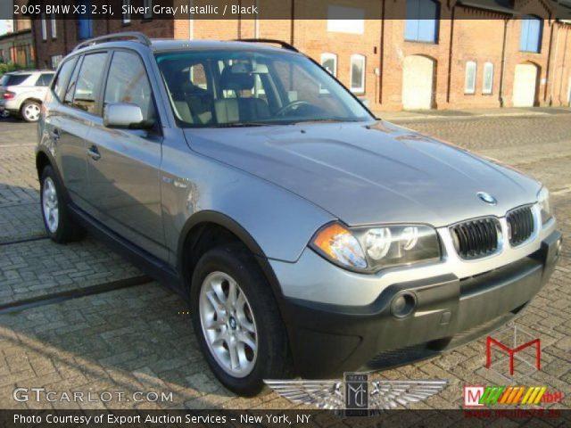 silver gray metallic 2005 bmw x3 black interior vehicle archive 32604264. Black Bedroom Furniture Sets. Home Design Ideas