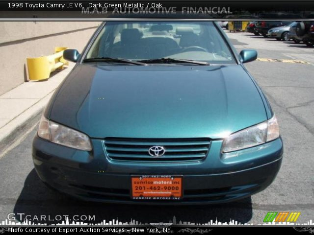 dark green metallic 1998 toyota camry le v6 oak interior vehicle archive. Black Bedroom Furniture Sets. Home Design Ideas