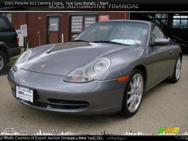 Seal Grey Metallic 2001 Porsche 911 Carrera Coupe Black Interior