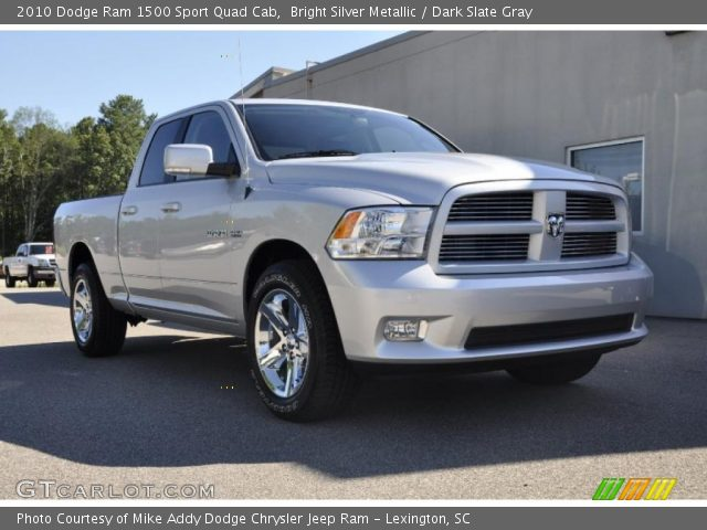 bright silver metallic 2010 dodge ram 1500 sport quad cab dark slate gray interior. Black Bedroom Furniture Sets. Home Design Ideas