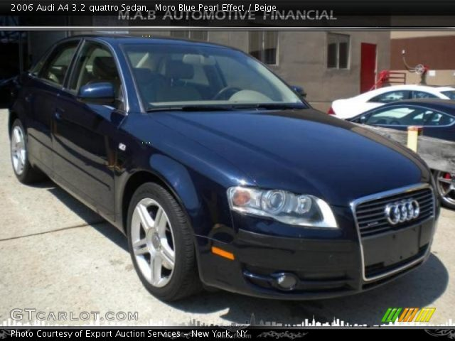 moro blue pearl effect 2006 audi a4 3 2 quattro sedan beige interior. Black Bedroom Furniture Sets. Home Design Ideas