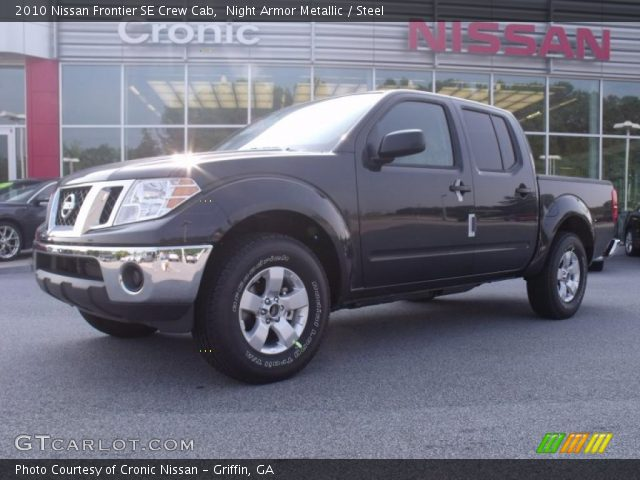 night armor metallic 2010 nissan frontier se crew cab steel interior. Black Bedroom Furniture Sets. Home Design Ideas