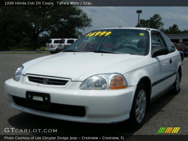 Taffeta white 1998 honda civic dx coupe gray interior for Honda civic dx 1998