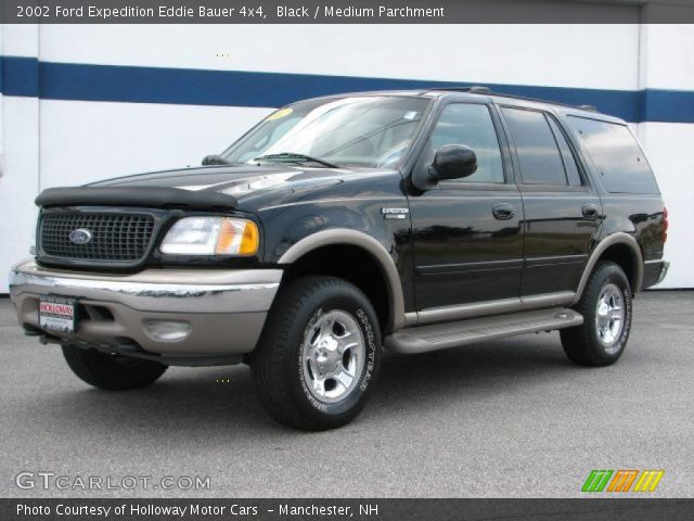 black 2002 ford expedition eddie bauer 4x4 medium parchment interior. Black Bedroom Furniture Sets. Home Design Ideas