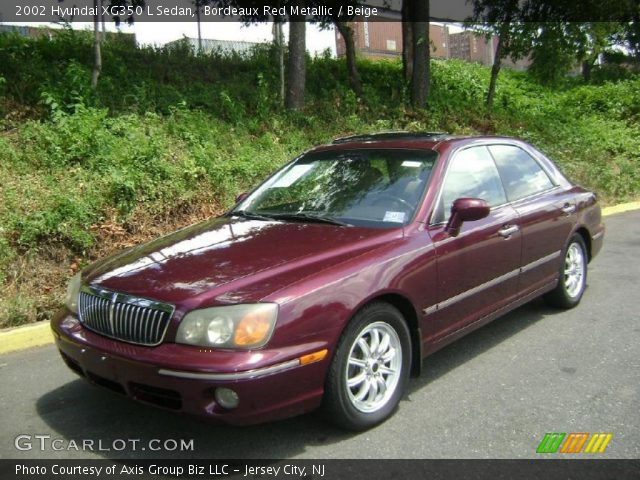 bordeaux red metallic 2002 hyundai xg350 l sedan beige interior gtcarlot com vehicle archive 32682642 gtcarlot com