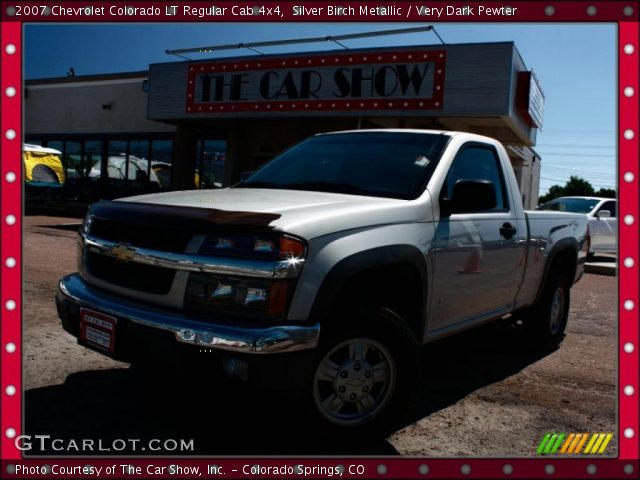 silver birch metallic 2007 chevrolet colorado lt regular cab 4x4 very dark pewter interior. Black Bedroom Furniture Sets. Home Design Ideas