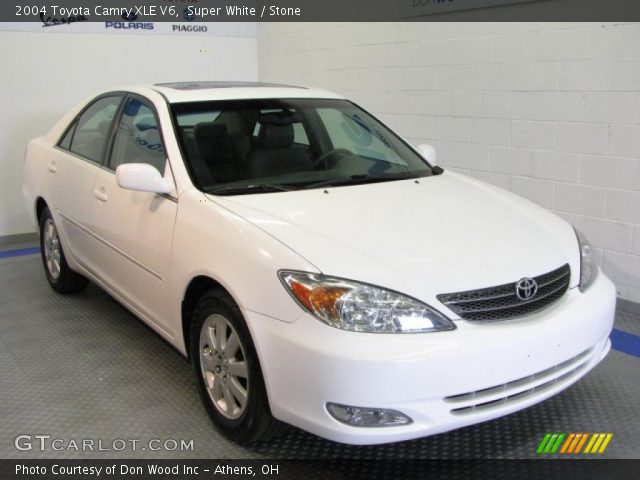 super white 2004 toyota camry xle v6 stone interior vehicle archive 32682834. Black Bedroom Furniture Sets. Home Design Ideas