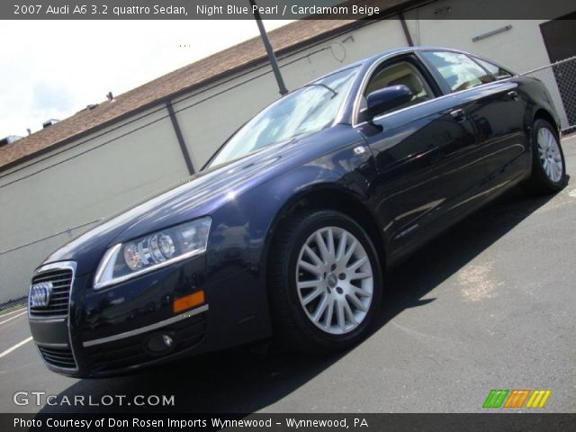 night blue pearl 2007 audi a6 3 2 quattro sedan cardamom beige interior. Black Bedroom Furniture Sets. Home Design Ideas