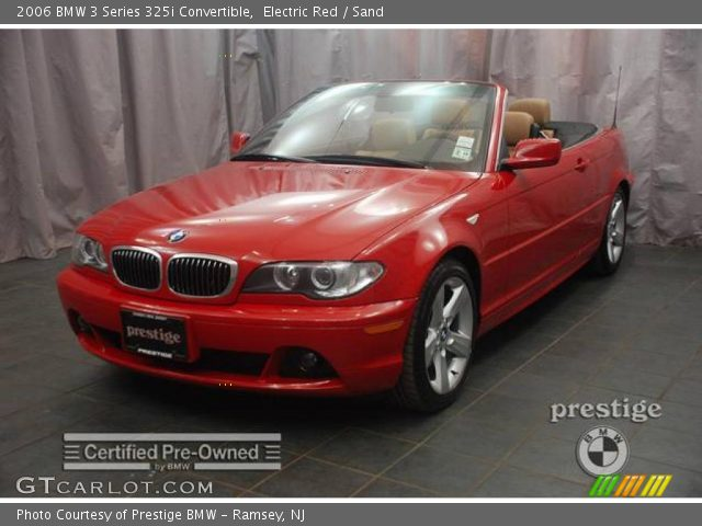 2006 BMW 3 Series 325i Convertible in Electric Red