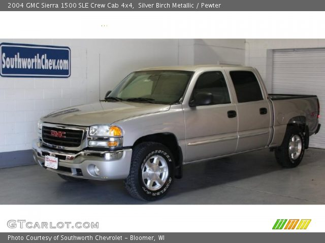 silver birch metallic 2004 gmc sierra 1500 sle crew cab. Black Bedroom Furniture Sets. Home Design Ideas