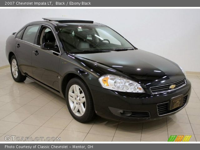 Black 2007 Chevrolet Impala Lt Ebony Black Interior