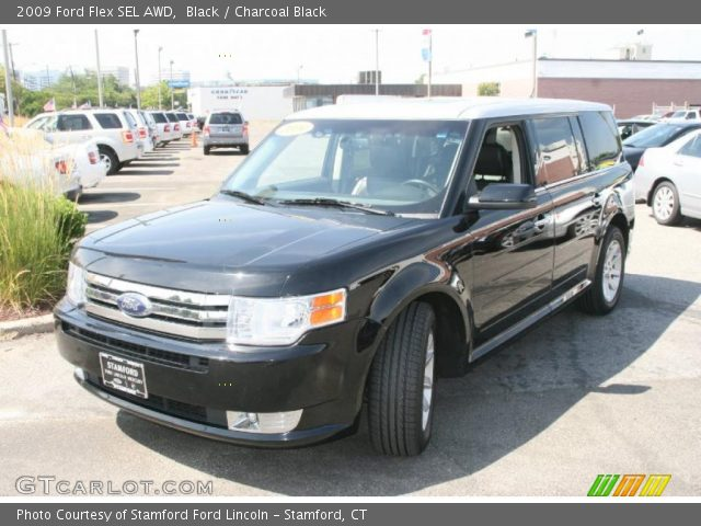 black 2009 ford flex sel awd charcoal black interior. Black Bedroom Furniture Sets. Home Design Ideas