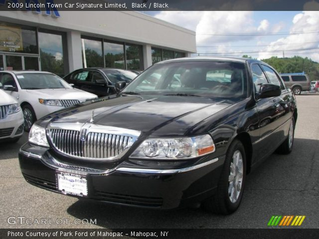 black 2009 lincoln town car signature limited black interior vehicle. Black Bedroom Furniture Sets. Home Design Ideas
