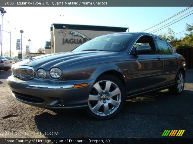 quartz metallic 2005 jaguar x type 3 0 warm charcoal interior vehicle. Black Bedroom Furniture Sets. Home Design Ideas