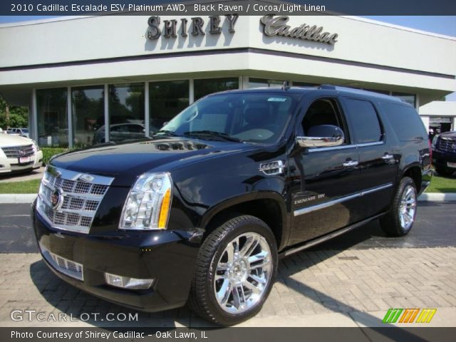 2010 Cadillac Escalade ESV Platinum AWD in Black Raven