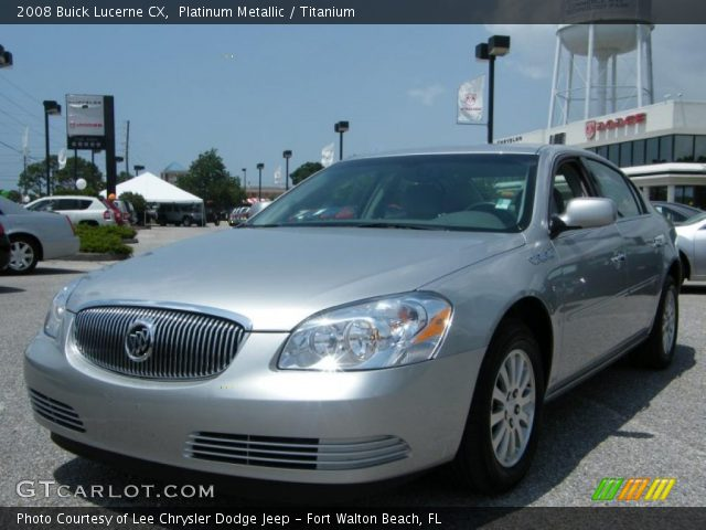 2008 Buick Lucerne CX in Platinum Metallic. Click to see large photo.