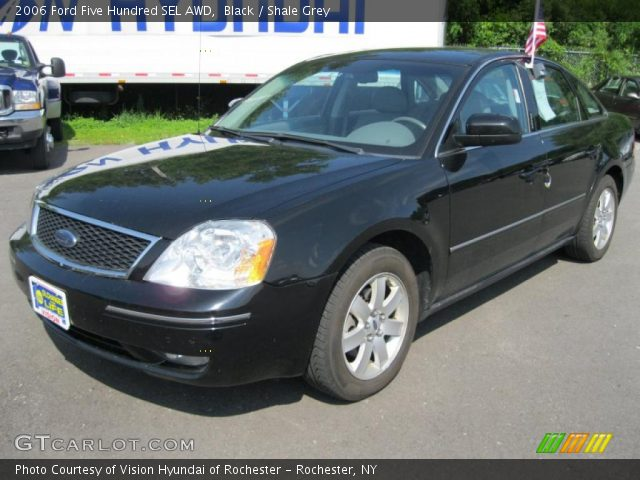 black 2006 ford five hundred sel awd shale grey interior vehicle archive. Black Bedroom Furniture Sets. Home Design Ideas