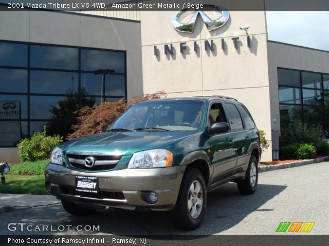 amazon green metallic 2001 mazda tribute lx v6 4wd beige interior vehicle. Black Bedroom Furniture Sets. Home Design Ideas