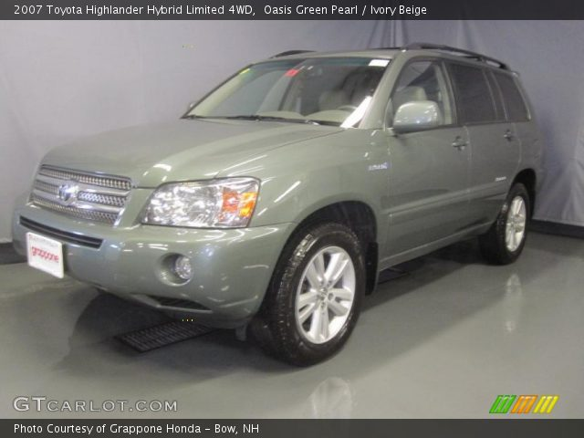 oasis green pearl 2007 toyota highlander hybrid limited 4wd ivory beige interior gtcarlot. Black Bedroom Furniture Sets. Home Design Ideas