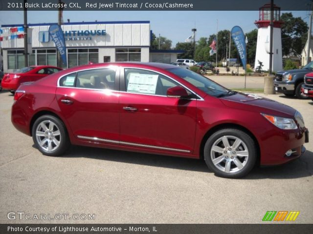 Red Jewel Tintcoat 2011 Buick Lacrosse Cxl Cocoa Cashmere Interior Vehicle