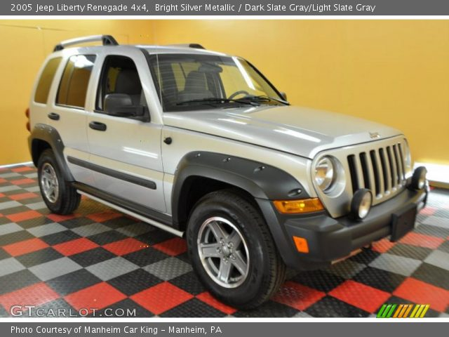 Bright Silver Metallic 2005 Jeep Liberty Renegade 4x4 Dark Slate Gray Light Slate Gray