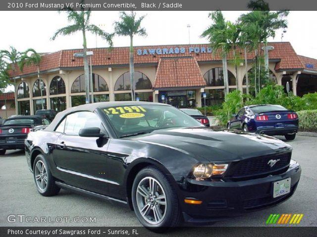 black 2010 ford mustang v6 premium convertible saddle interior vehicle. Black Bedroom Furniture Sets. Home Design Ideas