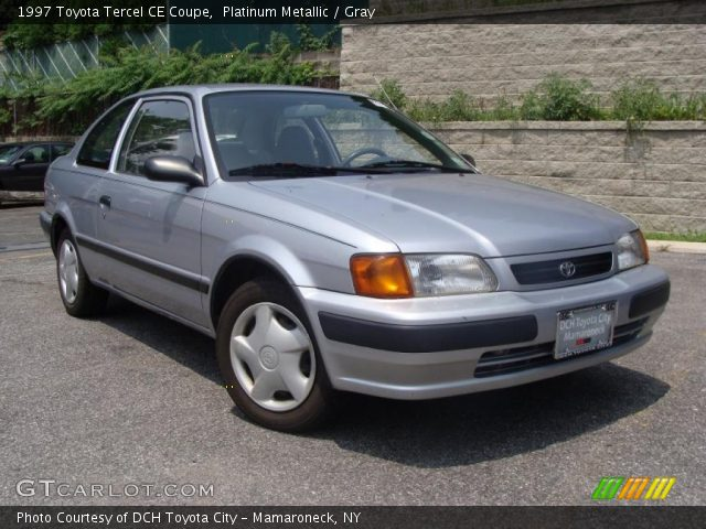 1997 Toyota Tercel CE Coupe in Platinum Metallic