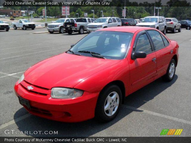 Victory red 2003 chevrolet cavalier sedan graphite - 2003 chevy cavalier interior parts ...