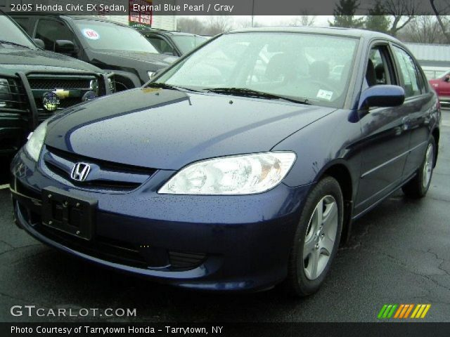 eternal blue pearl 2005 honda civic ex sedan gray. Black Bedroom Furniture Sets. Home Design Ideas