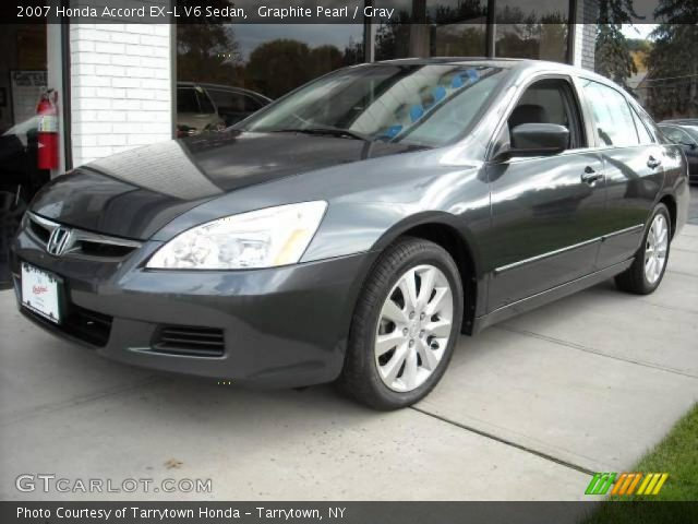 graphite pearl 2007 honda accord ex l v6 sedan gray interior vehicle. Black Bedroom Furniture Sets. Home Design Ideas