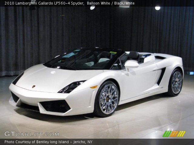 2010 Lamborghini Gallardo LP560-4 Spyder in Balloon White
