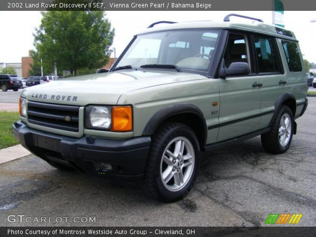 vienna green pearl 2002 land rover discovery ii se7 bahama beige interior. Black Bedroom Furniture Sets. Home Design Ideas