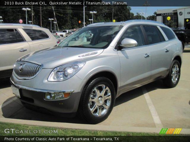 Quicksilver Metallic 2010 Buick Enclave Cxl Titanium Dark Titanium Interior