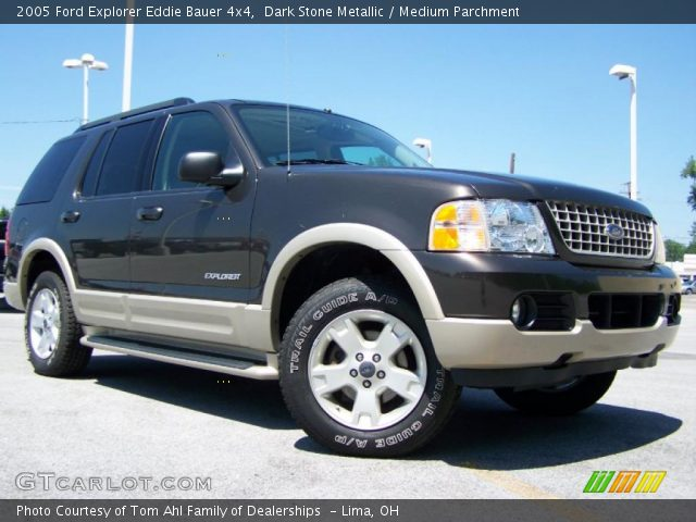 dark stone metallic 2005 ford explorer eddie bauer 4x4 medium parchment interior gtcarlot. Black Bedroom Furniture Sets. Home Design Ideas