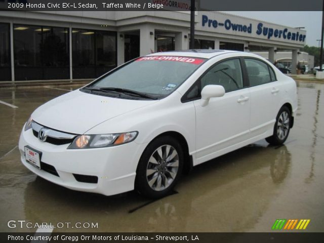 taffeta white 2009 honda civic ex l sedan beige interior vehicle archive. Black Bedroom Furniture Sets. Home Design Ideas